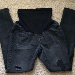 Distressed Jessica Simpson maternity jeans